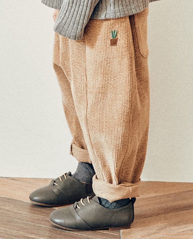 [Out of Stock] Brown Pot Corduroy Pants