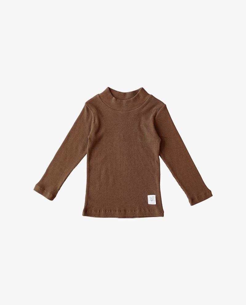 Brownie Mock Neck T-Shirt