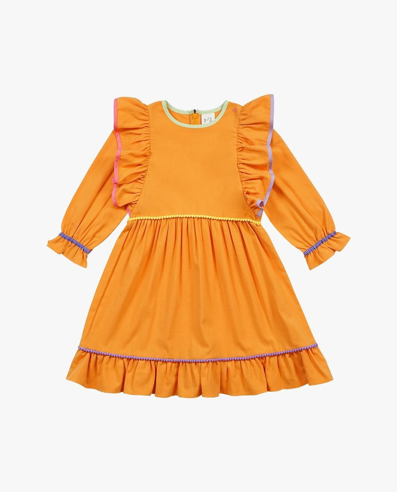 [Out of Stock] Color Palette Ruffled Dress