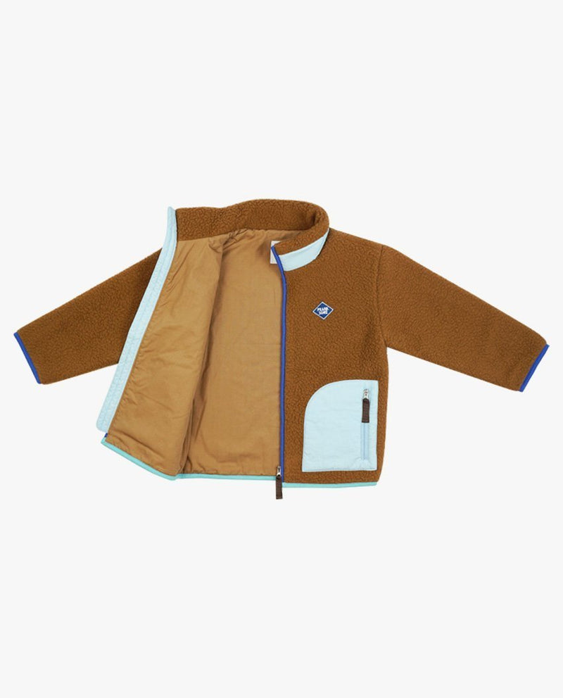 [Out of Stock] Color Block Fleece Jacket