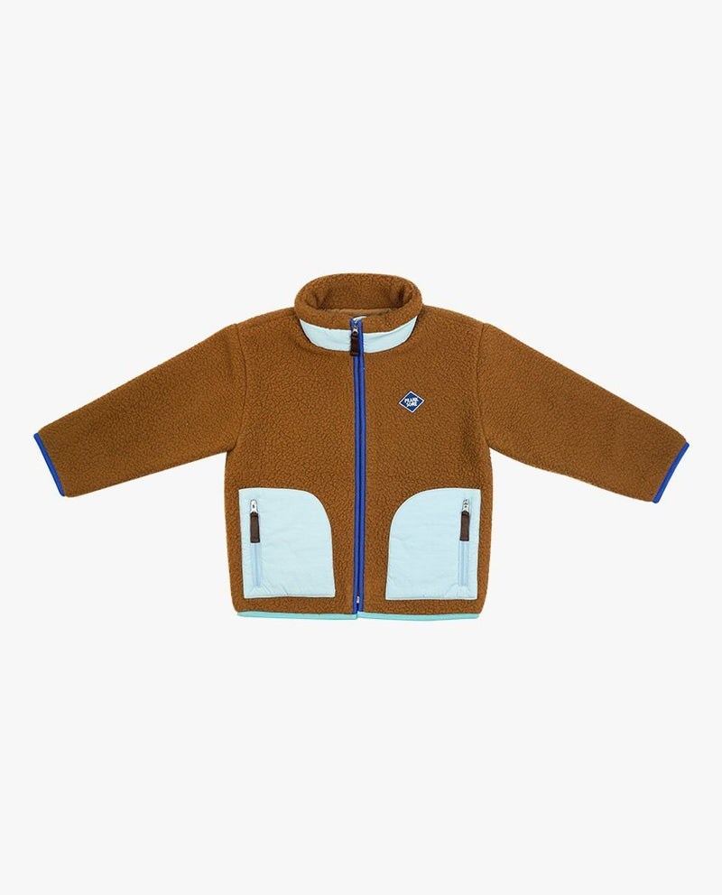 Color Block Fleece Jacket on MooMooz