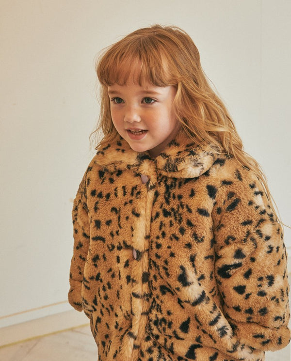Tiger Faux Fur Coat on MooMooz