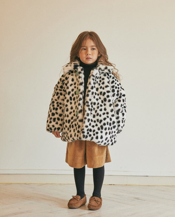 Dalmatian Faux Fur Coat on MooMooz