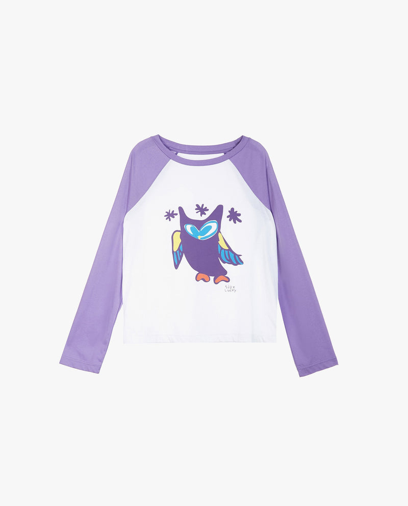 Lucky Chouette Baseball T-Shirt (Adults) on MooMooz