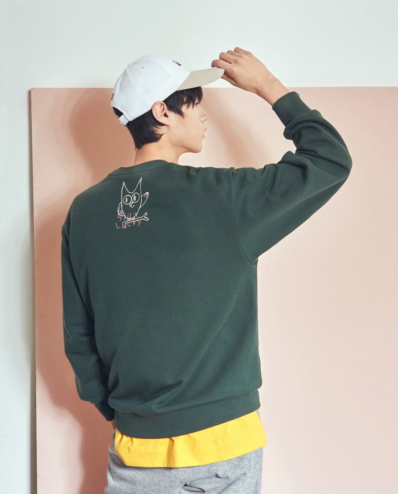 Back Embroidered Sweatshirt (Adults) on MooMooz