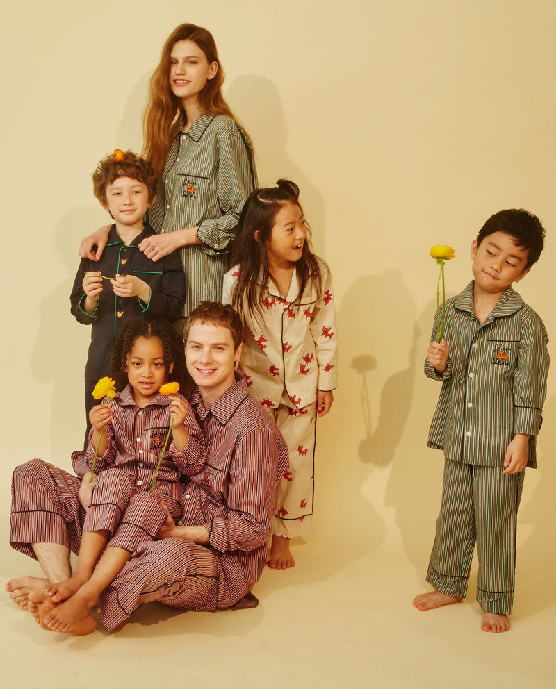 Striped Pajamas (Kids) on MooMooz