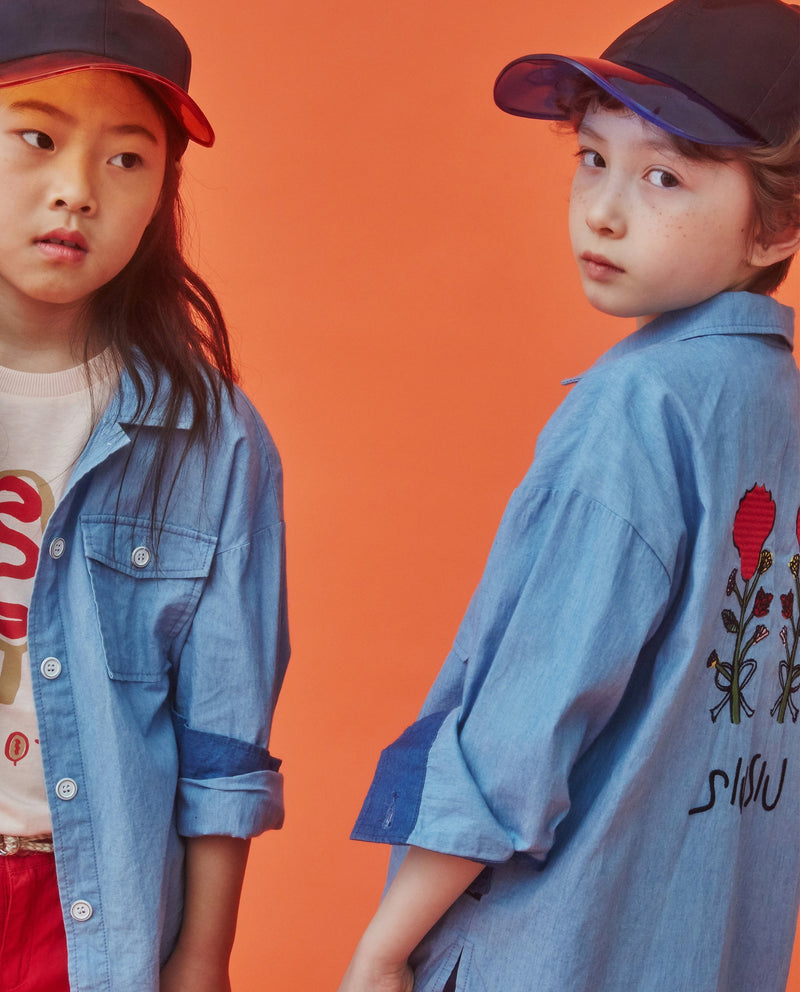 [Out of Stock]Color Block Carnation Shirt (Kids)