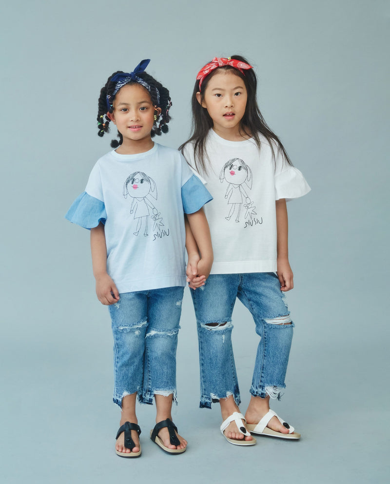 Heart Lips Blouse (Kids) on MooMooz