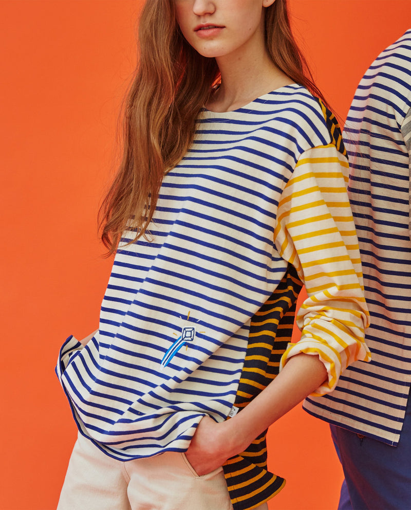 [Out of Stock] Magic Wand Color Block Striped T-Shirt (Adults)