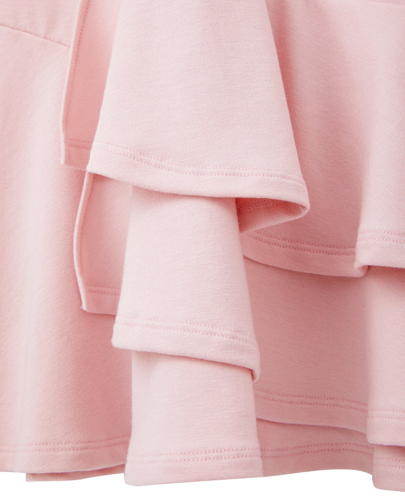 Tiered Ruffle Heart Dress (Pink)