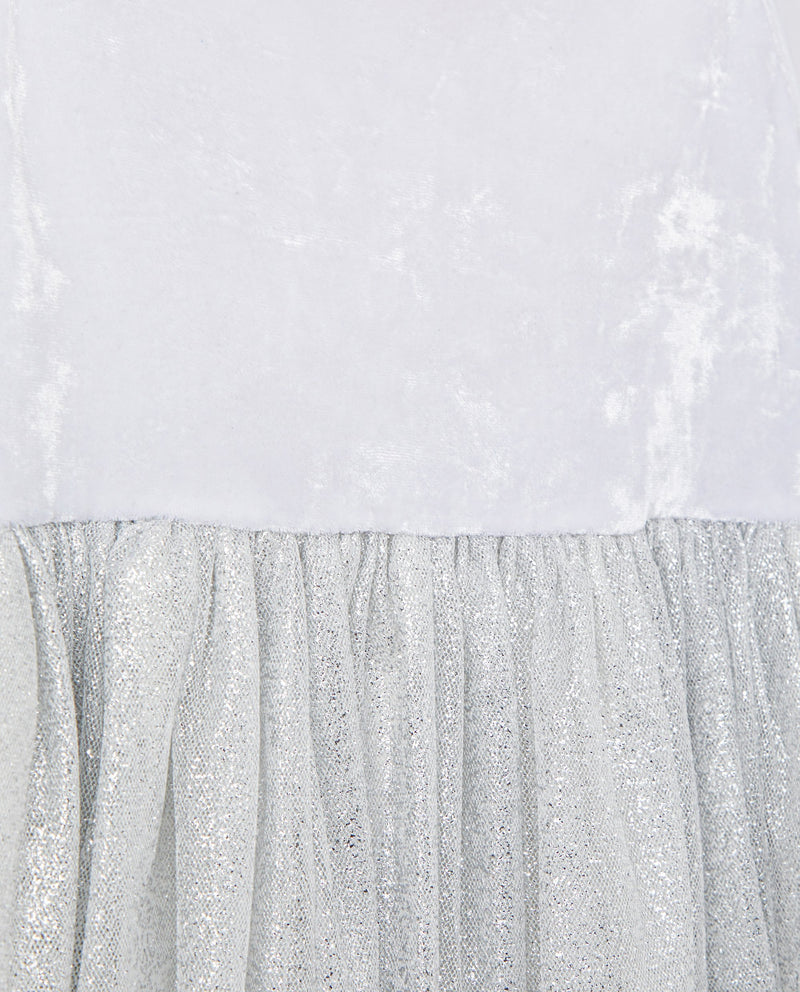 Glittery Bustier Dress (White)