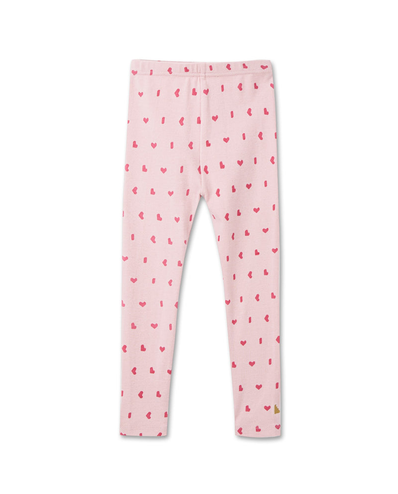 Heart Print Leggings (Pink)