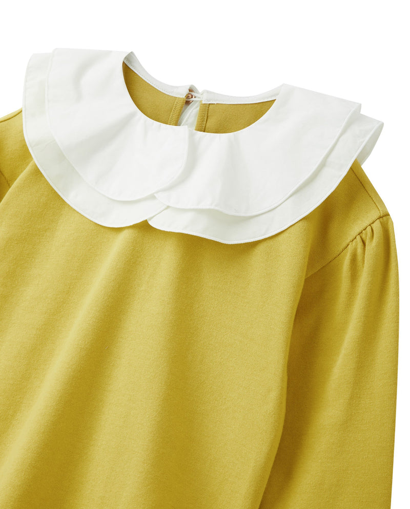 Double Ruffled Collar T-Shirt (Lime)