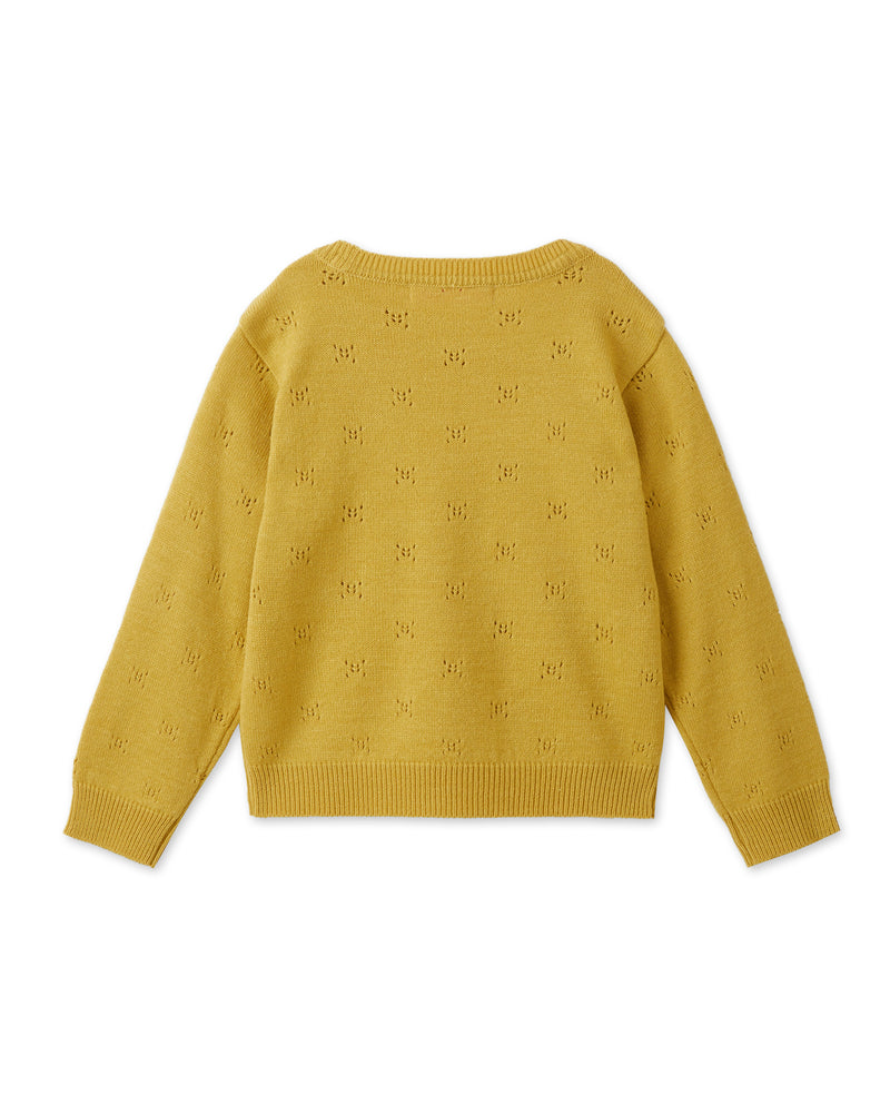 Textured Cashmere Blend Sweater (Yellow)
