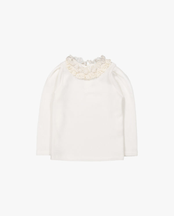 [Out of Stock]Creamy Lace T-Shirt