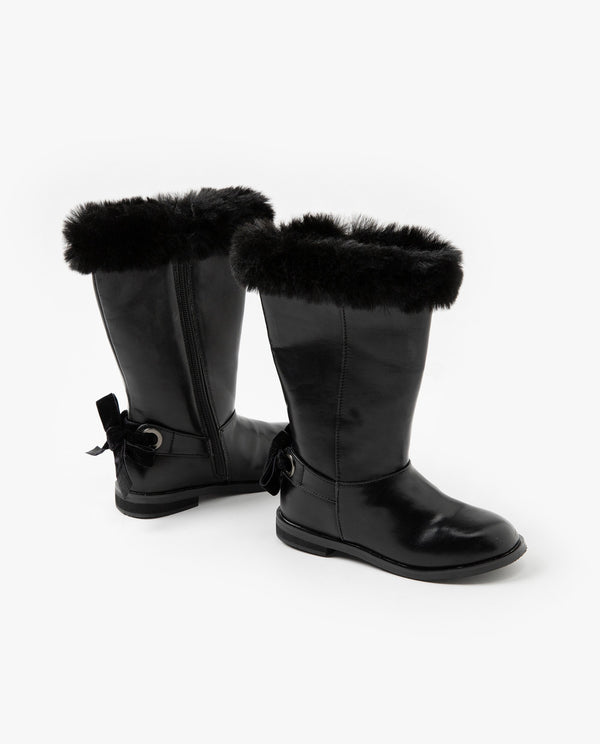 [Out of Stock] Fur Trimmed Long Boots