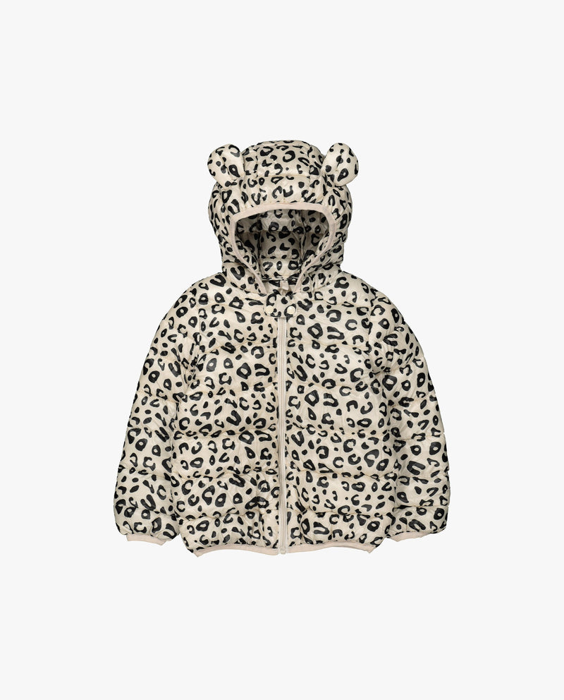 [Out of Stock] Leopard Hooded Puffer Jacket