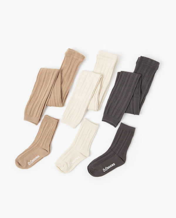 [Out of Stock] [SET] Ribbed Tights and Socks