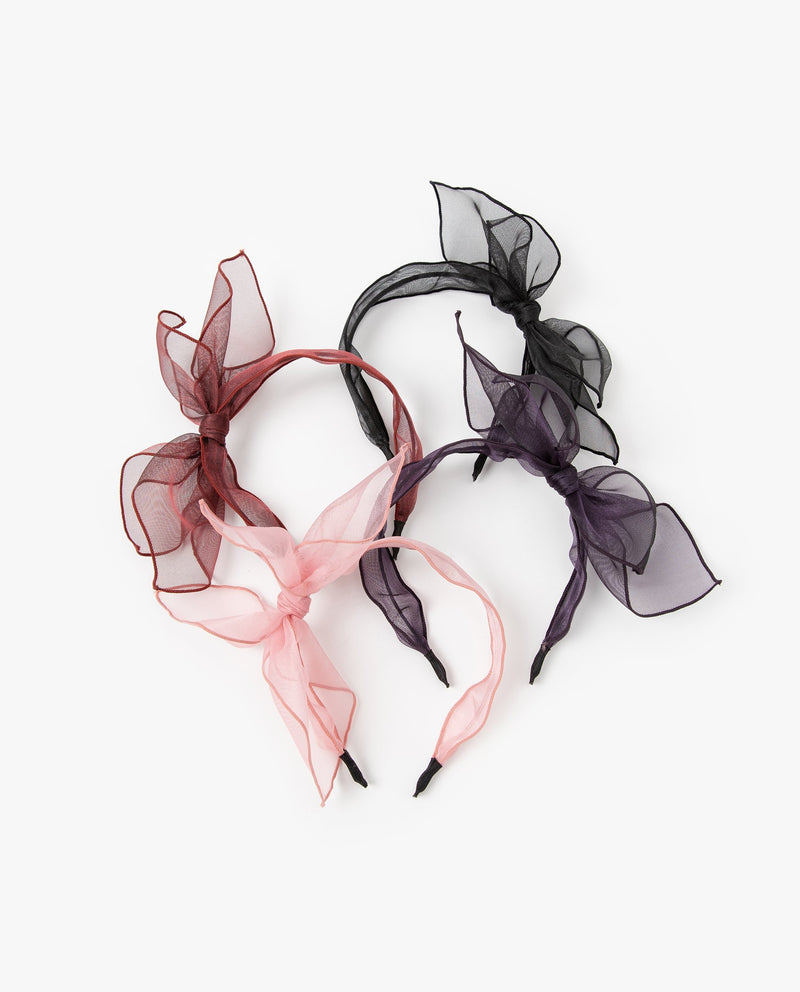 Sheer Side Bow Headband
