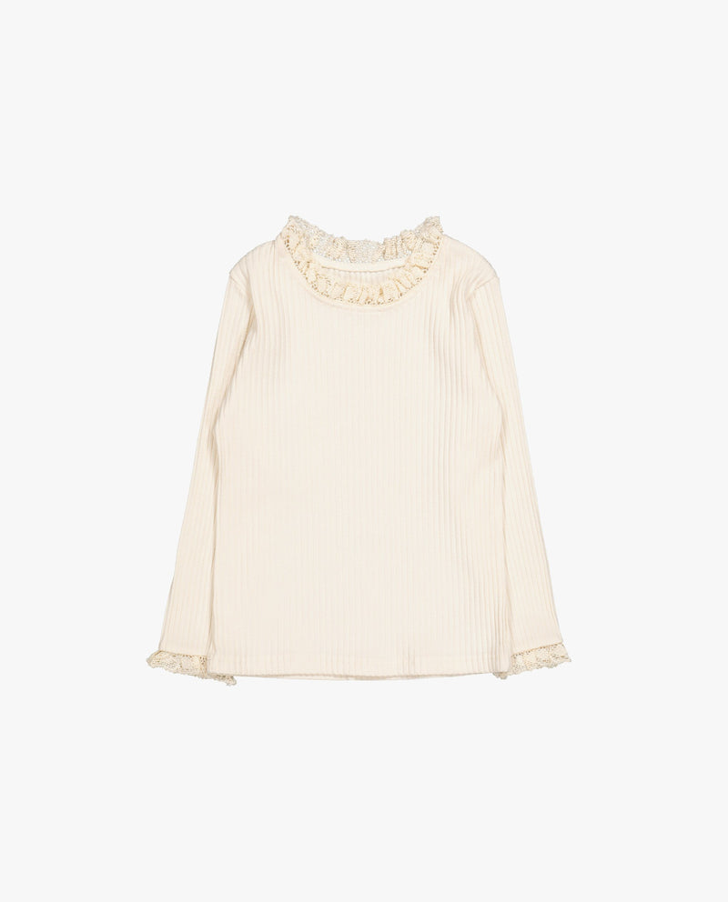 [Out of Stock] Lace Trimmed T-Shirt