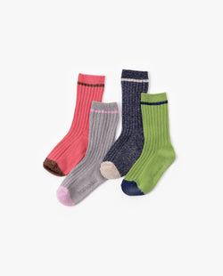 [Out of Stock] [SET] Glittery Lined Socks