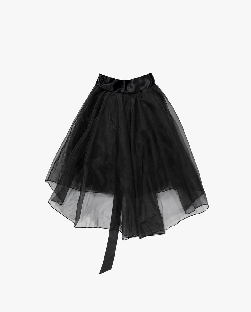 Satin Bow Tulle Skirt