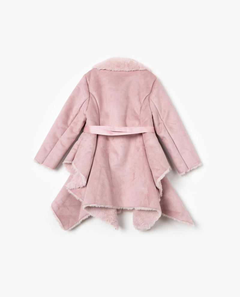 [Out of Stock] Faux Fur Lined Suede Jacket