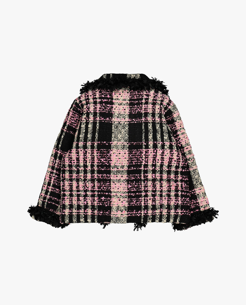 [Out of Stock] Pink Tweed Jacket