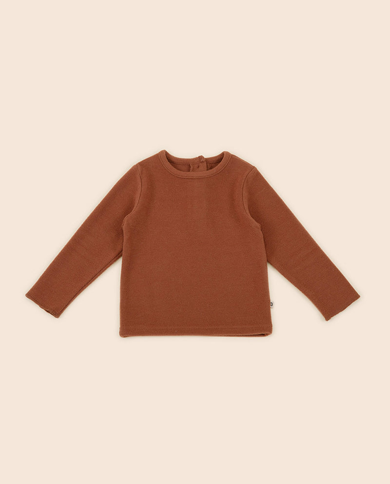[Out of Stock] Lau Fleece Lined Long Sleeve T-Shirt