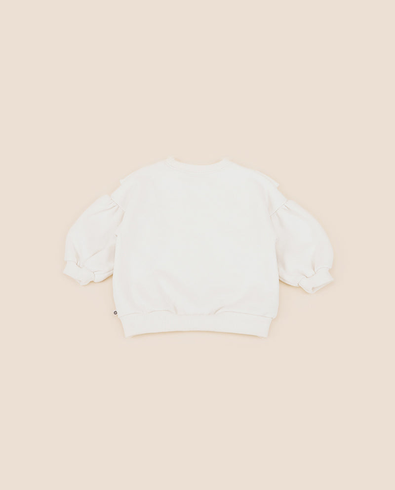 [Out of Stock] Shelley  Frill Fleece Lined Sweatshirt