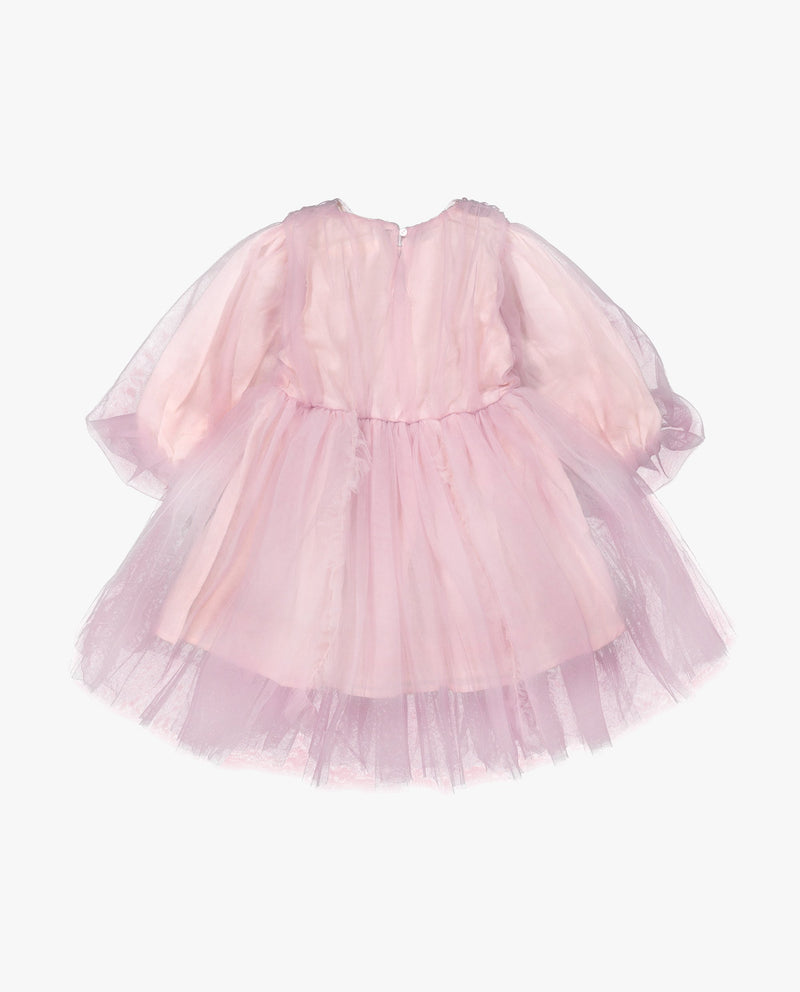 [Out of Stock] Tulle Overlay Dress