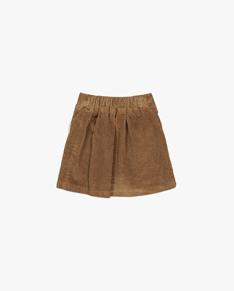 [Out of Stock] Pom Pom Lined Pocket Corduroy Skirt