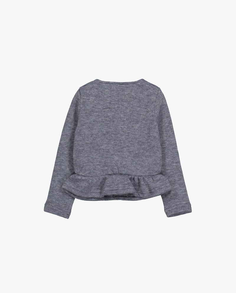 [Out of Stock] Bow Patched  Jersey Cardigan
