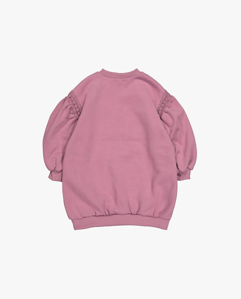 [Out of Stock] Embellished Puffy Sleeve T-Sweatshirt
