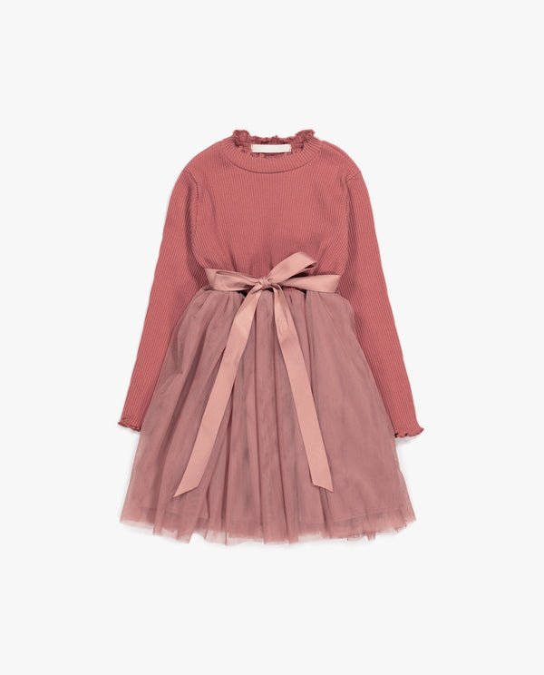 [Out of Stock] Ribbon Patched Ballerina Dress