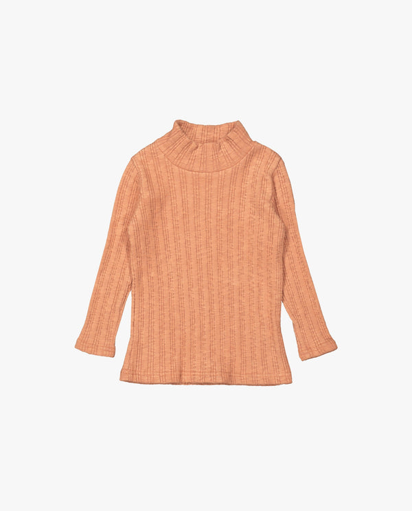 [Out of Stock] Ribbed Mock Neck T-Shirt