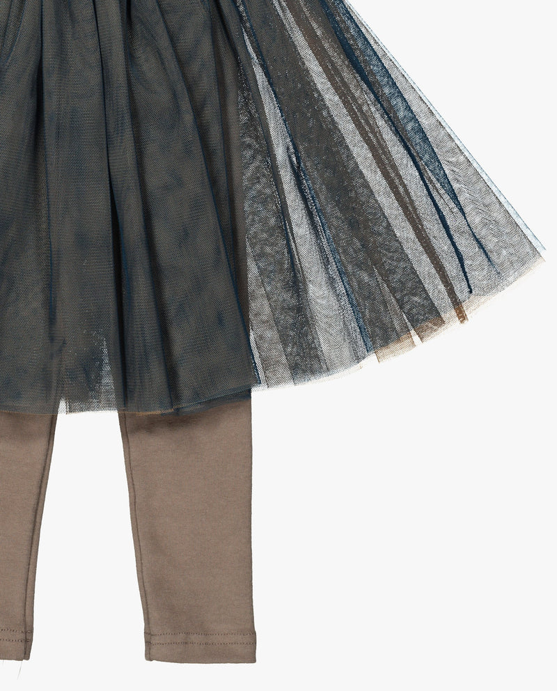 [Out of Stock] Flared Tulle Skirted Leggings