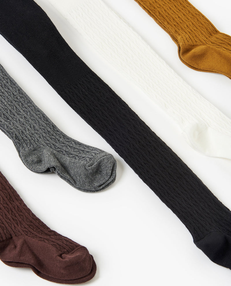 [Out of Stock] Cable Knit Tights