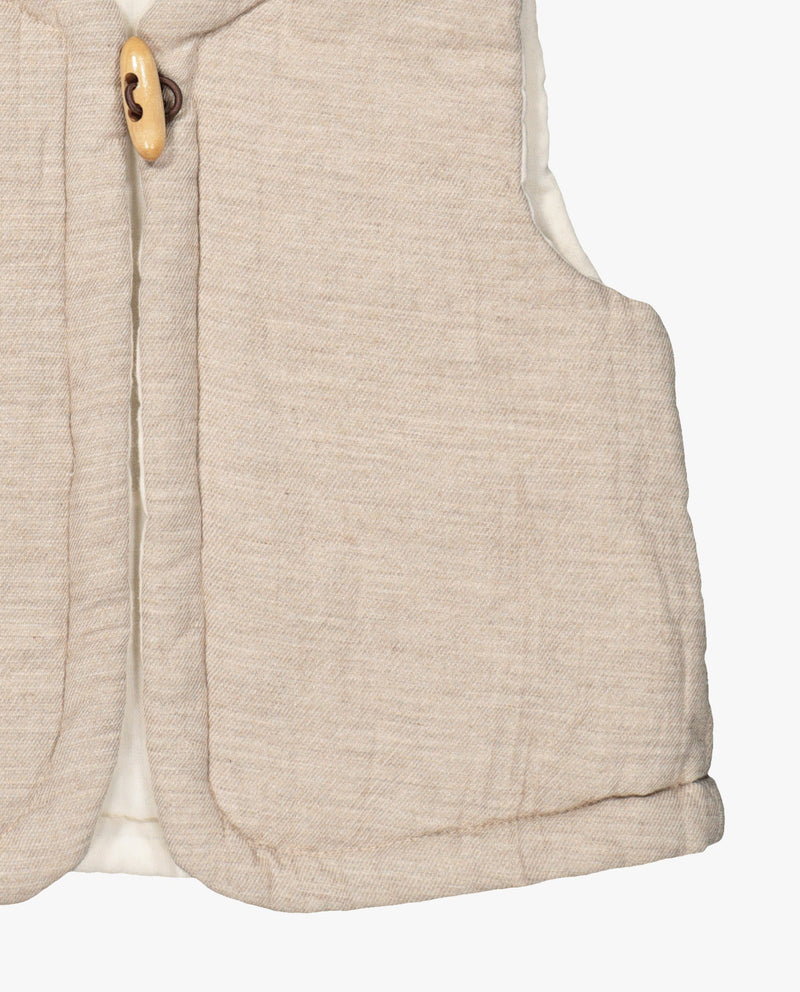 [Out of Stock] Single Wooden Button Vest