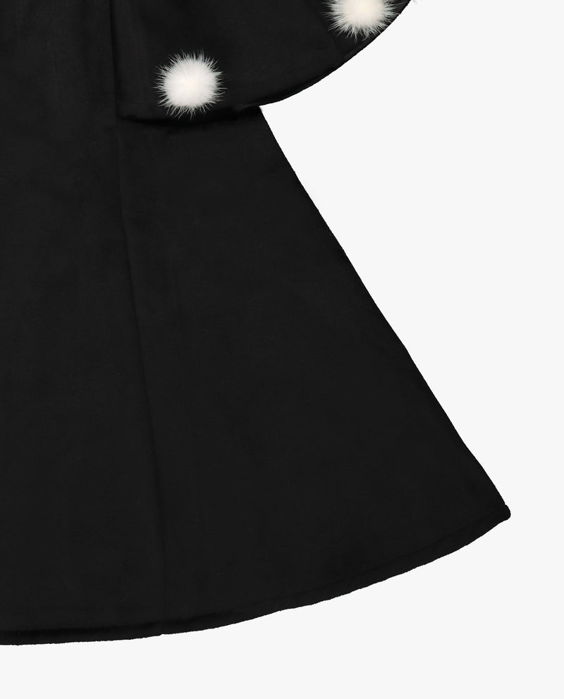[Out of Stock] Furry Puff Cape Dress
