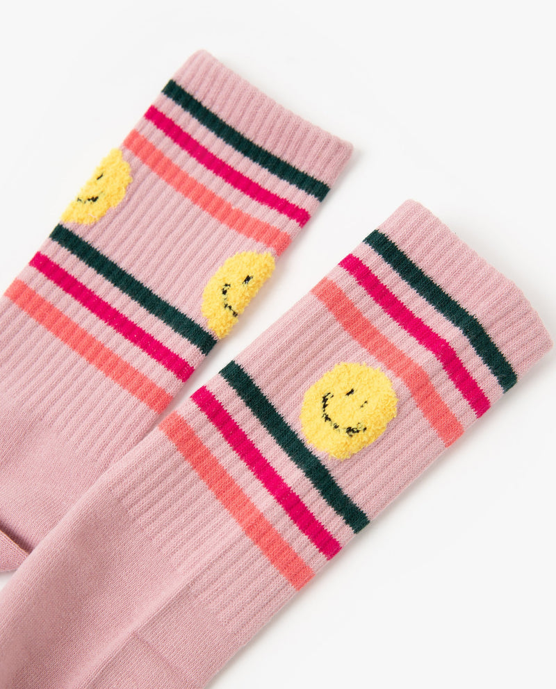 [Out of Stock] Striped Smiley Face Socks