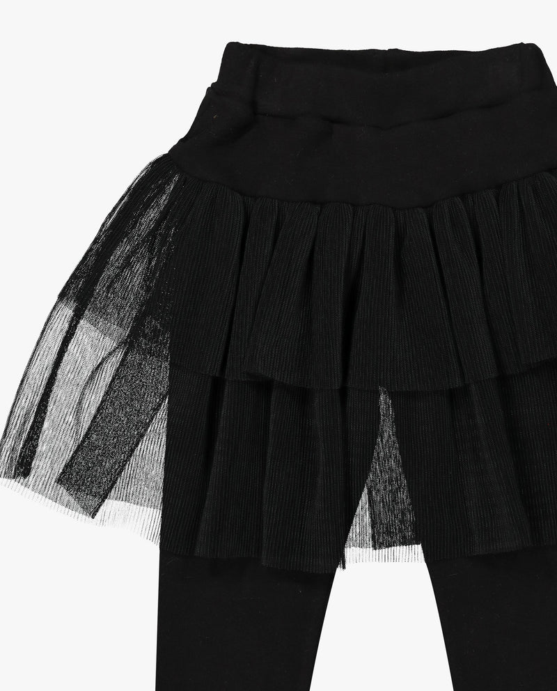 Double Tiered Skirted Leggings