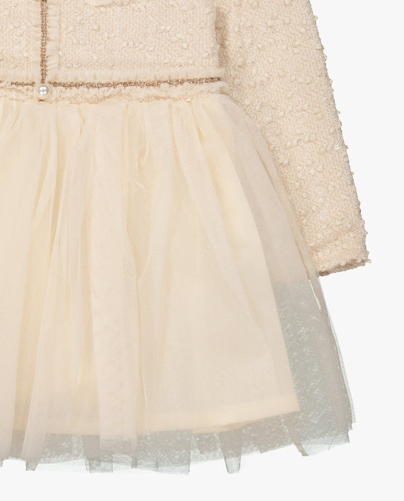 [Out of Stock] Classic Tweed and Tulle Dress