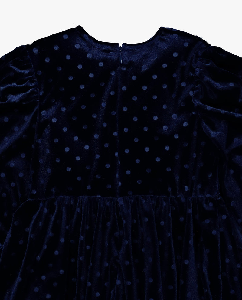 [Out of Stock] Dotted Velvet Dress