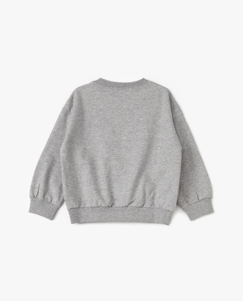 Cotton Crewneck Sweatshirt Gray