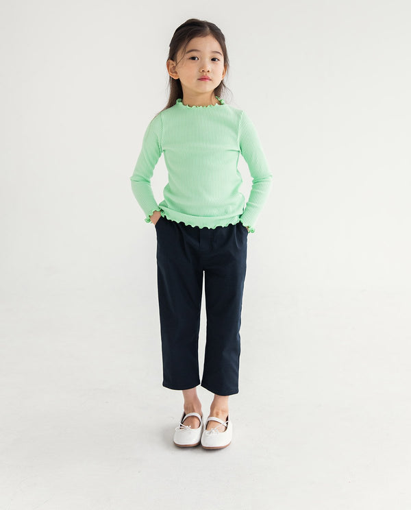 Isabelle Mock Neck Lime