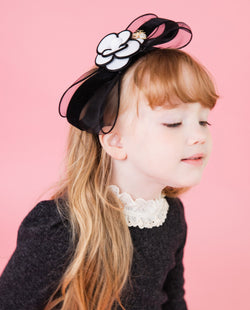[Out of Stock] Camellia Tulle Bow Headband