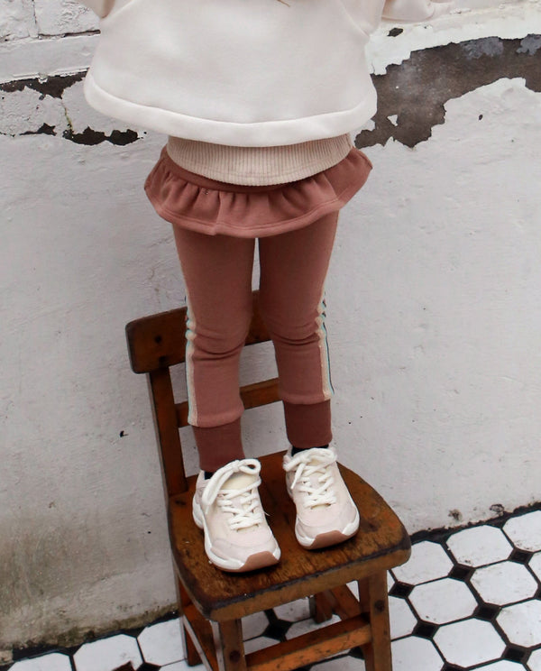 [Out of Stock] Pearl Lined Ruffle Pants