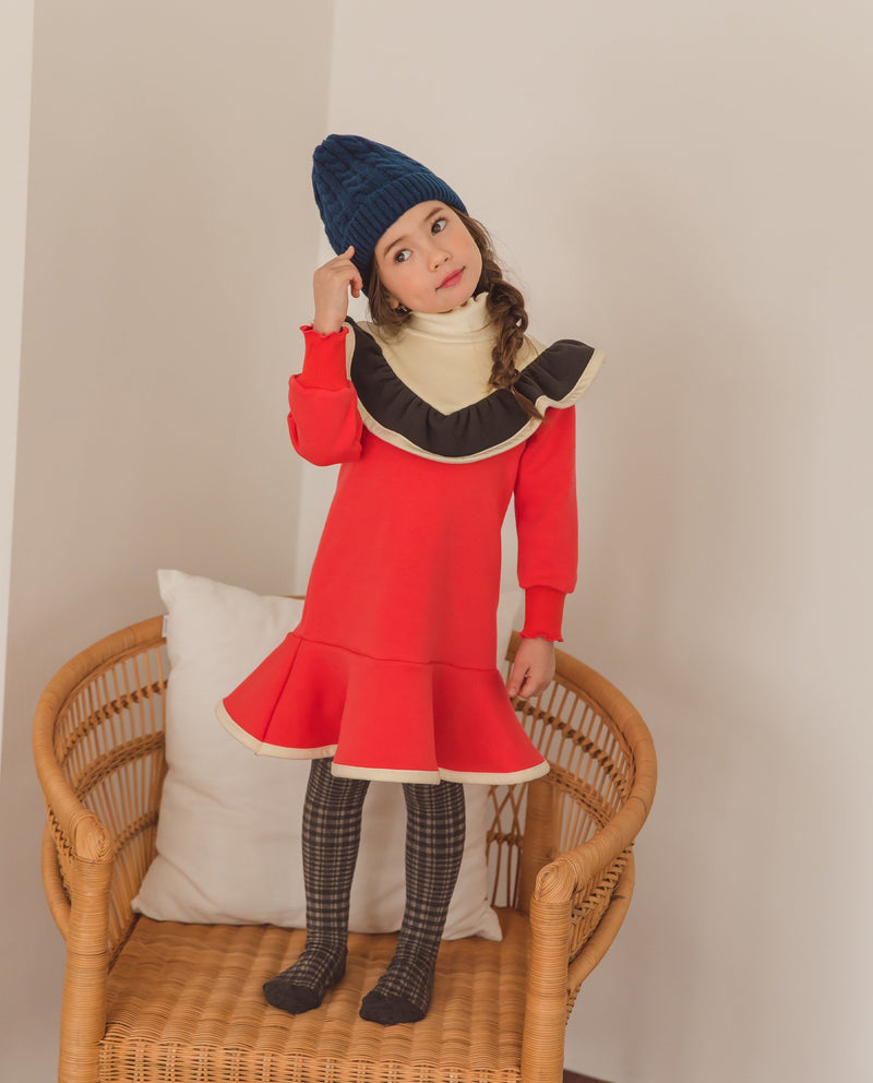 [Out of Stock] Color Block Flared Dress
