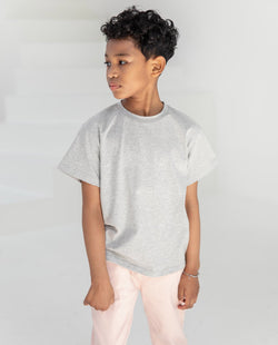 Cotton Short Sleeve Gray